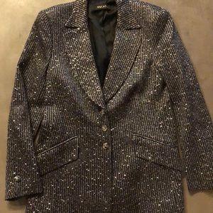 Escada Vintage Silver Sequin Blazer